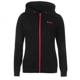 Lee Cooper Zip Hoody Ladies Navy/Pink