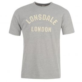 Lonsdale London Gym T Shirt Mens Marl Grey