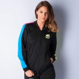 Mikina Adidas Originals Womens Rita Ora Mesh Supergirl Track Top Black
