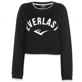 Mikina Everlast Crop Sweatshirt Ladies Black