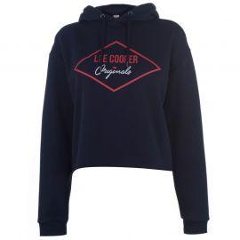 Mikina s kapucí Lee Cooper Crop Hoodie Navy