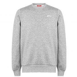 Mikina Slazenger SL Fleece Crew Sweater Mens Grey Marl