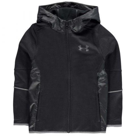 Mikina Under Armour Swacket Full Zip Hoody Junior Boys Black