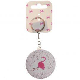 Miso Mini Girl Keyring Flamingo