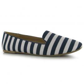 Miso Sassy Slipper Ladies Shoes Navy Stripe