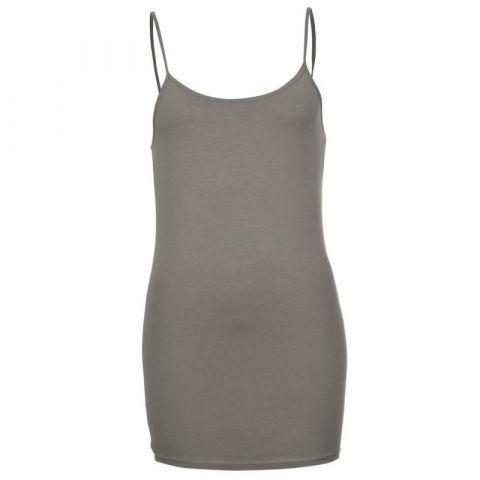 Miso Strap Vest Ladies Charcoal
