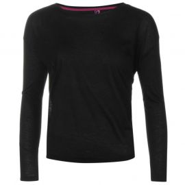 Miss Fiori F Yoga Top Womens Black