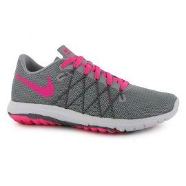 Nike Flex Fury 2 Junior Girls Running Shoes Grey/Pink