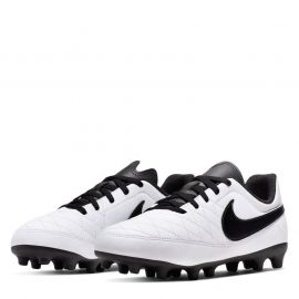 Nike Majestry FG Boys Football Boots White/Black