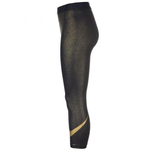 Nike Pro Sparkle Capri Leggings Ladies Black/Gold