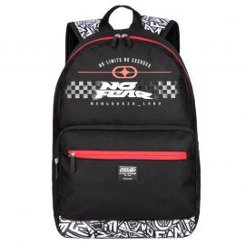 No Fear MX Skate Backpack Black/Red