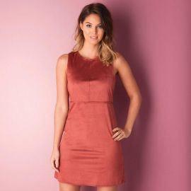 Only Womens Faux Suede Dress wine