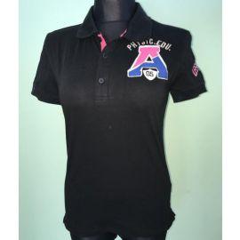 Pánské polo triko Leeyo s krátkým rukávem černá