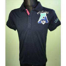 Pánské polo triko Leeyo s krátkým rukávem tmavě modrá
