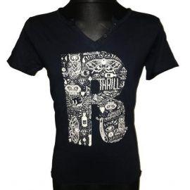 Pánské tričko Leeyo s krátkým rukávem tmavě modrá