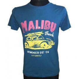 Pánské tričko malibu beach s krátkým rukávem modrá