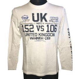 Pánské tričko s dlouhým rukávem Winner 1968 bílá