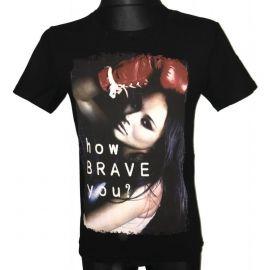 Pánské tričko s krátkým rukávem How brave you. černá