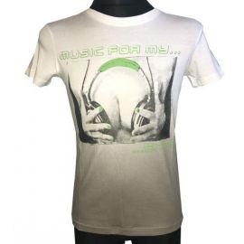 Pánské tričko s krátkým rukávem Music for my... bílá