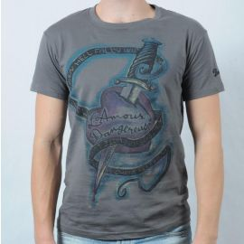 Pánské triko Gildan šedá