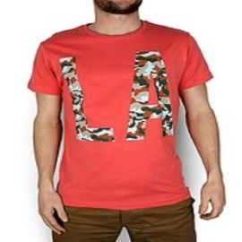 Pánské triko Jack and Jones LA spiced coral