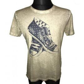 Pánské triko s krátkým rukávem (tenisky) béžová