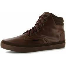 Pánské vycházkové boty Kangol Vinnie - šněrovací hnědé