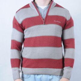 Pánský svetr Pierre Cardin červená/šedá