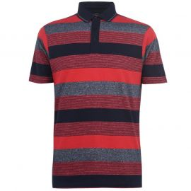Pierre Cardin Dye Jersey Polo Shirt Mens Red/Navy/Grey