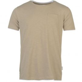 Pierre Cardin Layered Crew Neck Tshirt Mens Camel Marl