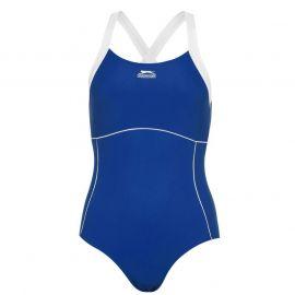 Plavky Slazenger X Back Swimsuit Ladies Navy