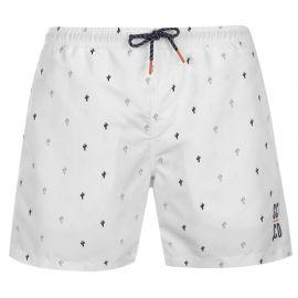 Plavky SoulCal Deluxe AOP Swim Shorts White