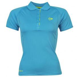 Polokošile Dunlop Perf Polo Shirt Ladies Blue/Citrus