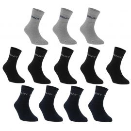Ponožky Donnay Quarter Socks 12 Pack Childrens Dark Asst