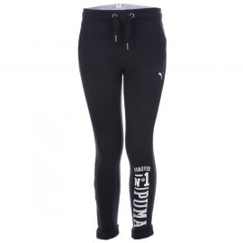 Puma Junior Girls Style Athletic Jog Pants Black