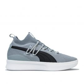 Puma Mens Clyde Court Basketball Trainers Grey black