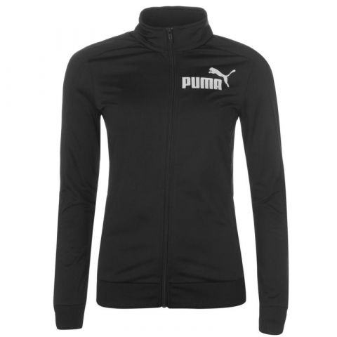 Puma Poly Tracksuit Top Black