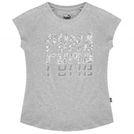 Puma World T Shirt Junior Girls Grey