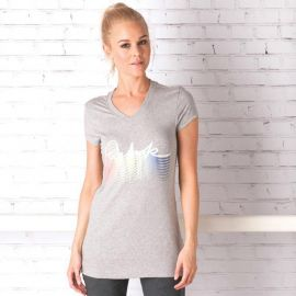 Reebok Womens Graphic T-Shirt Grey Marl