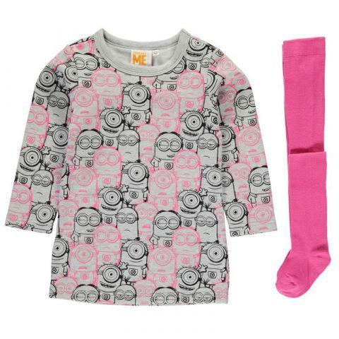 Šaty Character Fleece Dress Set Infant Girls Minion