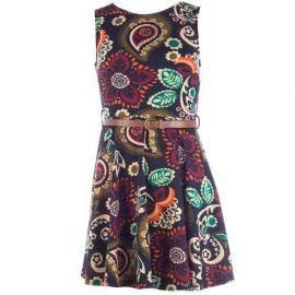 Šaty Clubl Womens Paisley Skater Dress Multi colour