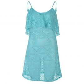 Šaty SoulCal Mesh Vest Beach Dress Ladies Aqua