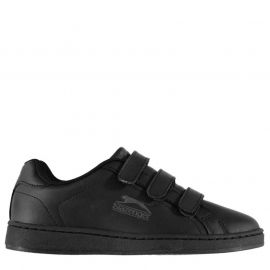 Slazenger Ash Vel Junior Trainers Black/Charcoal