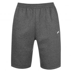 Slazenger Fleece Shorts Mens Charcoal