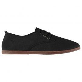 Slazenger Kung Fu Lace Mens Canvas Shoes Black