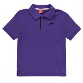 Slazenger Plain Polo Shirt Junior Boys Purple