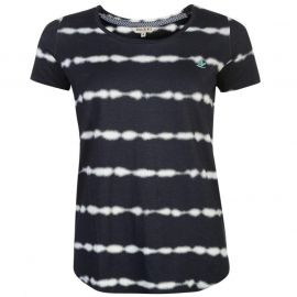 SoulCal Stripe T Shirt Ladies Navy/White