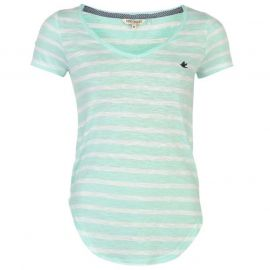 SoulCal Yarn Dye Striped T Shirt White/Mint