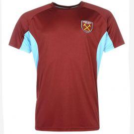 Source Lab West Ham United T Shirt Mens Claret/Blue
