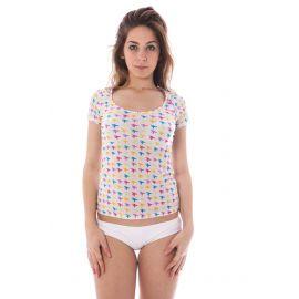 Spodní prádlo A-STYLE tričko s krátkým rukávem BIANCO